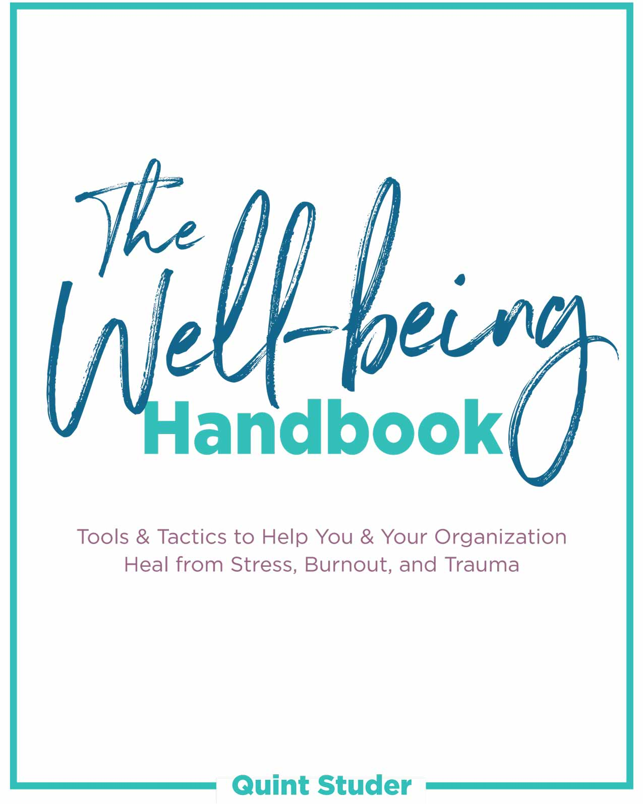 The Well-Being Handbook cover