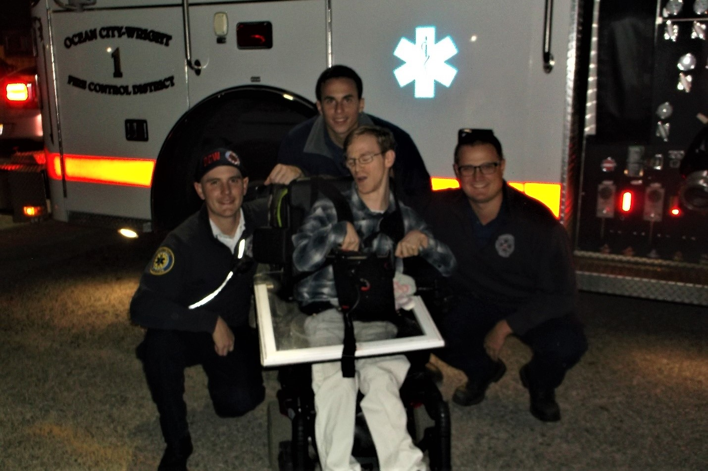 Pensacola Care Member with EMS Personnel