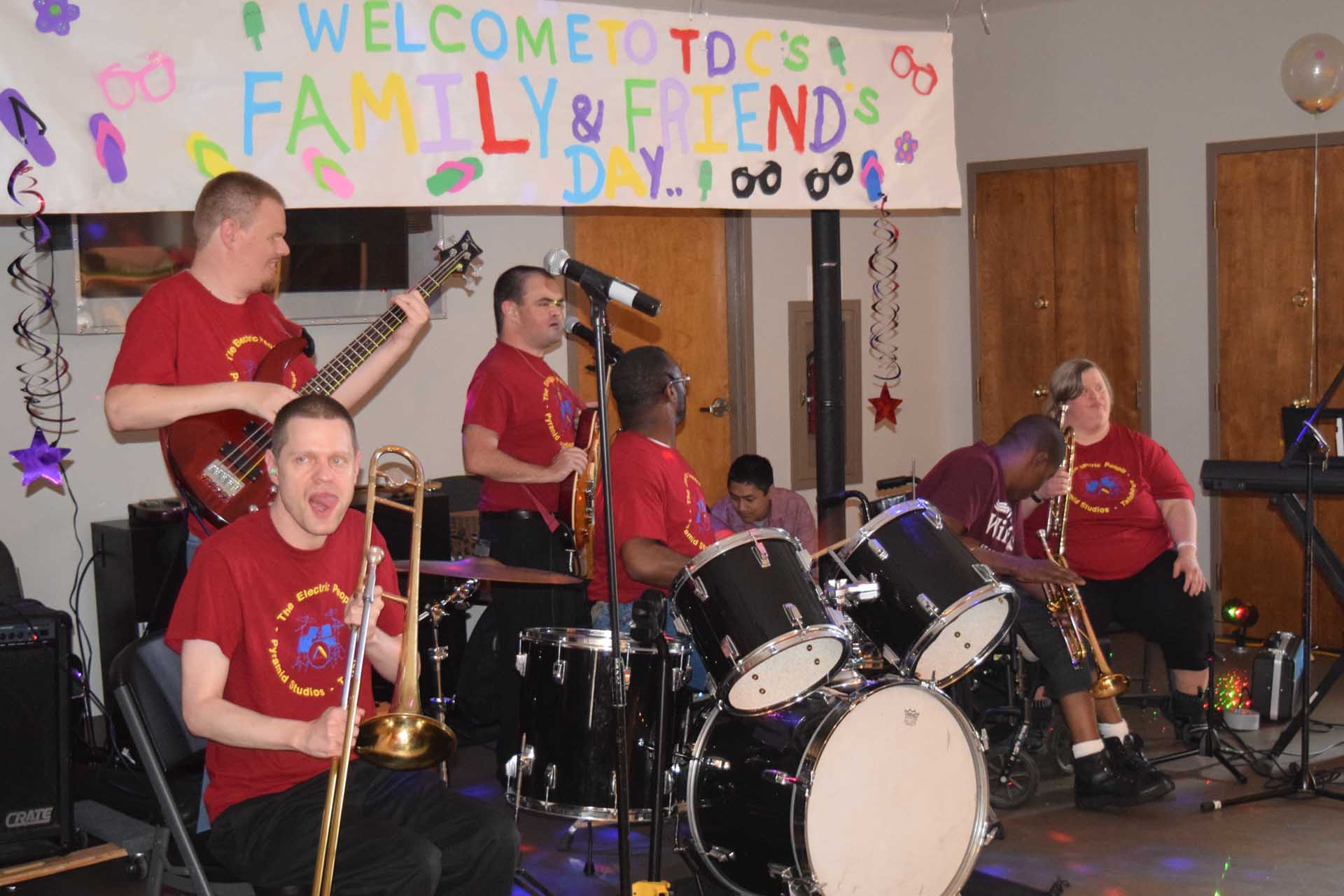 Care Members playing in a band