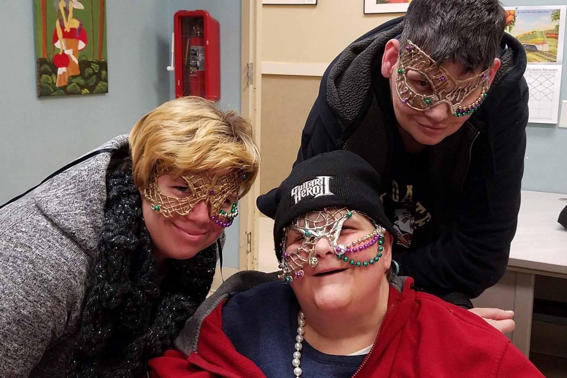 Care Members wearing masks