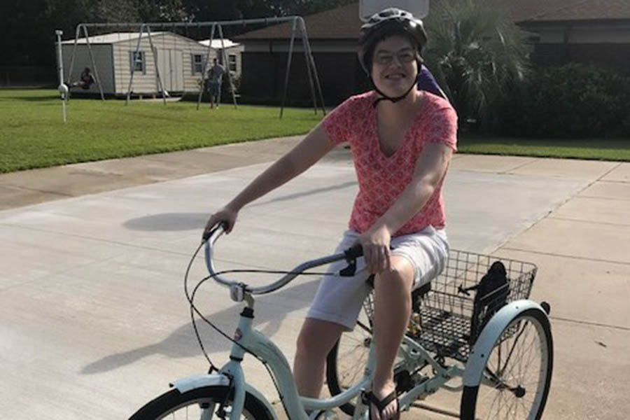 Care Member Riding a bike