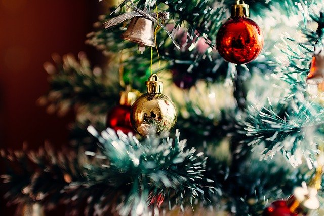 Christmas tree closeup via pixabay