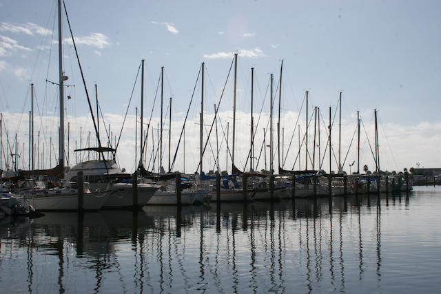 Sailboats at the Gulfport Municipal Marina in Gulfport, Florida – photo by Cathy Salustri