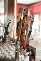 beer taps at a bar