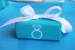 Turquoise wedding decor