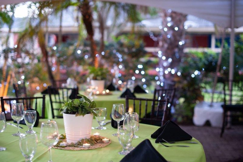 wedding reception tables outdoors