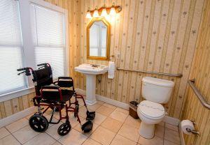 wheelchair in the bathroom