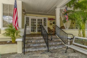 Front stairs of the Inn