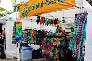 vendor shops at a festival