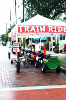 Train ride at a festival