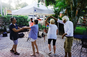 people dancing at the festival
