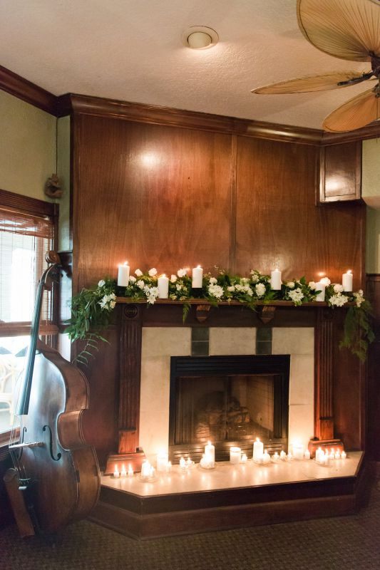 Wedding Fireplace display