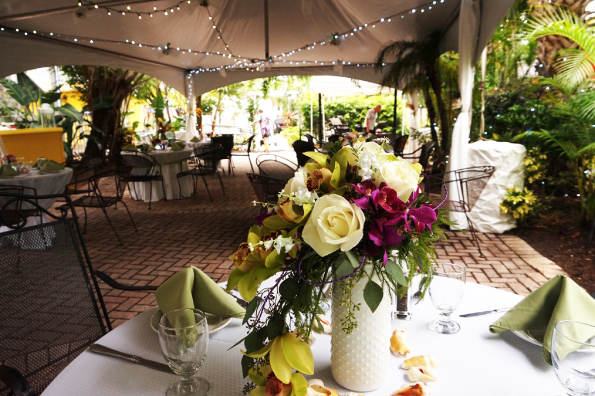 Garden Wedding Floral Display