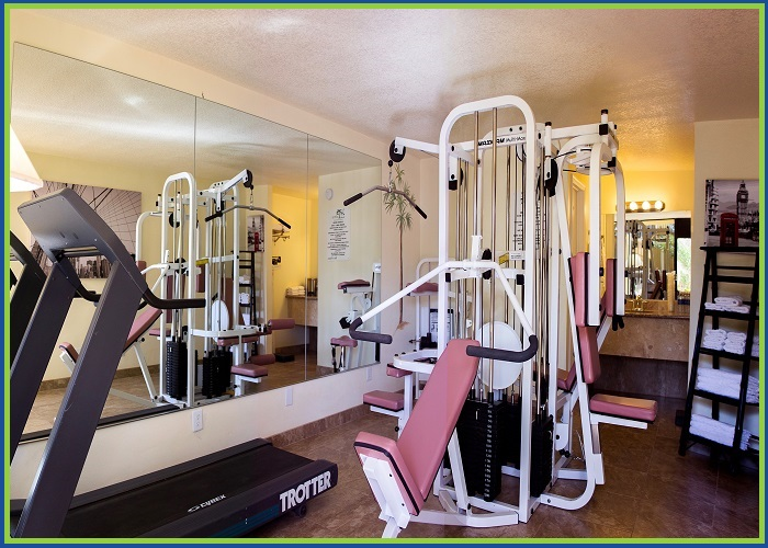 At Home Inn Fort Pierce Florida Fitness Room View
