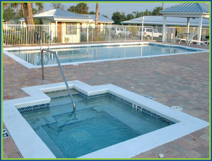The Fountains Hotel Fort Pierce Florida Pool Area View