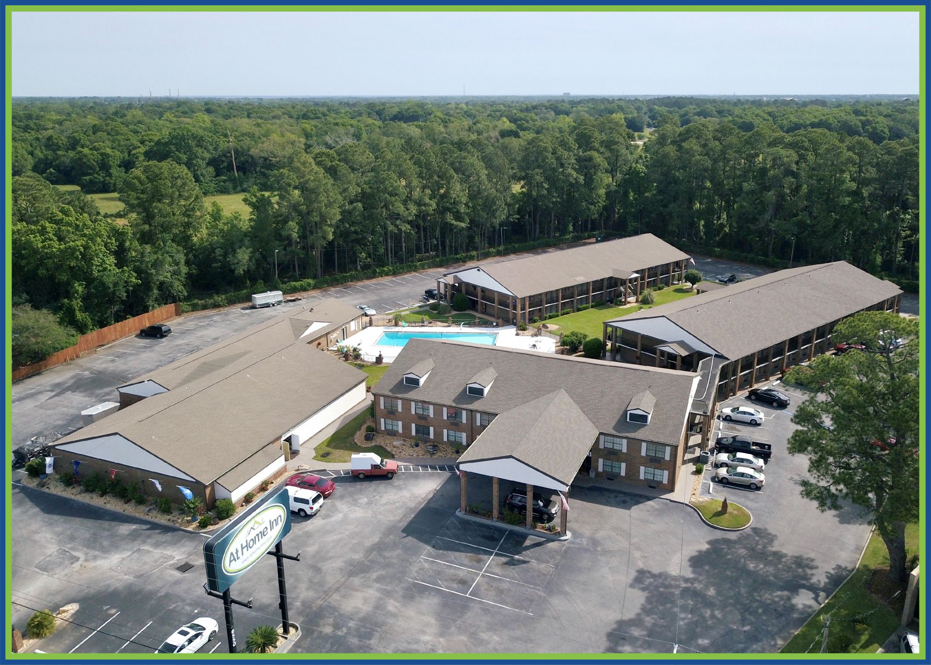 At Home Inn Pensacola Florida Aerial View of the Property