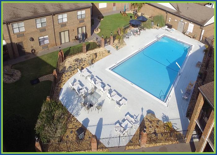 At Home Inn Pensacola Florida Aerial Pool View