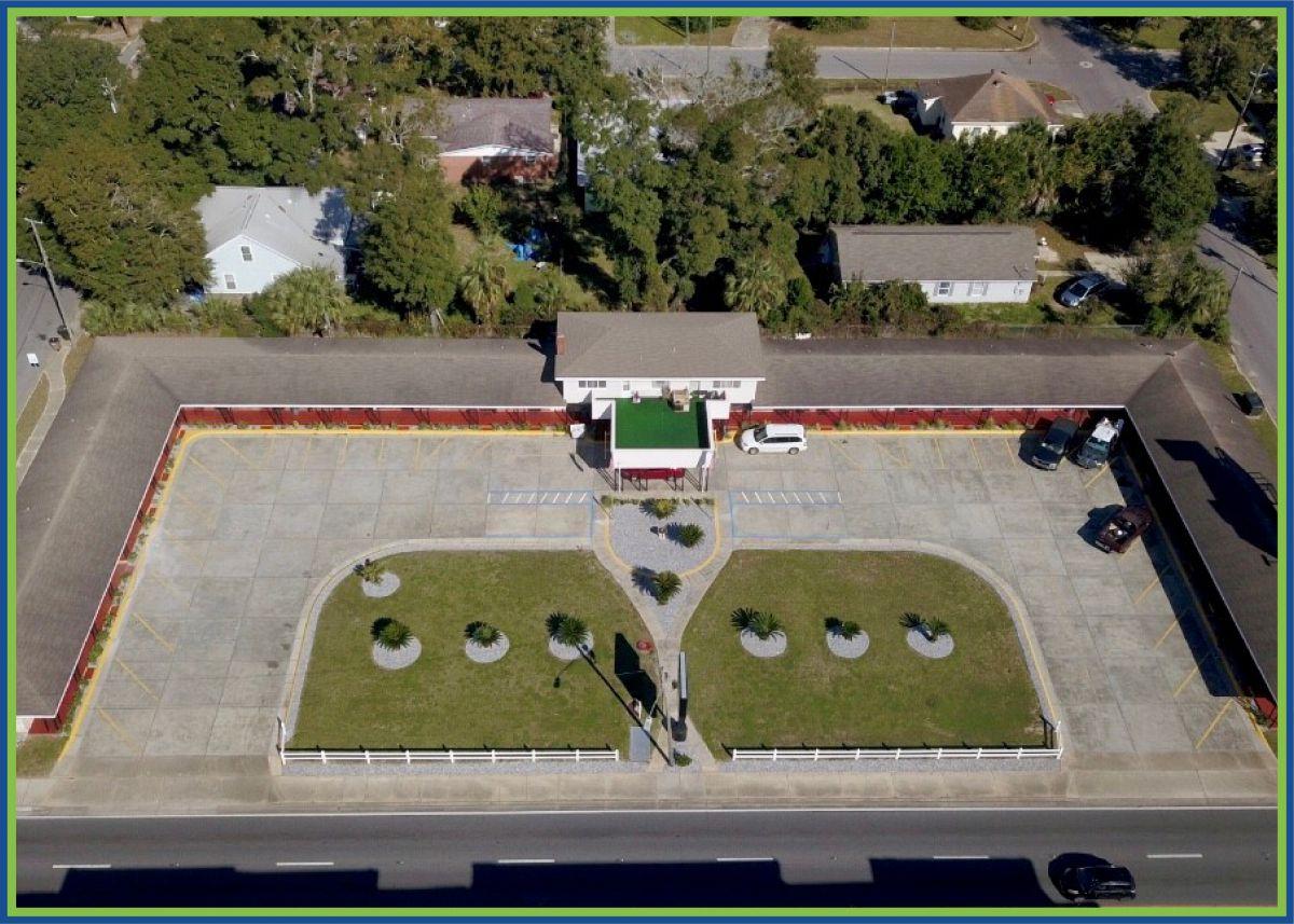 Budget Inn Pensacola Florida Aerial Property View