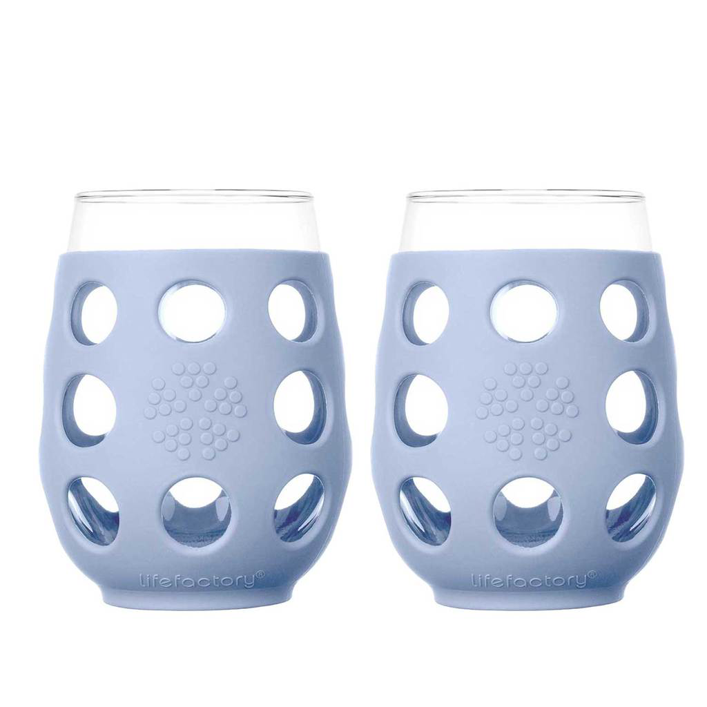 17 oz Wine Glass 2 Pack Silicone Sleeve, Perwinkle