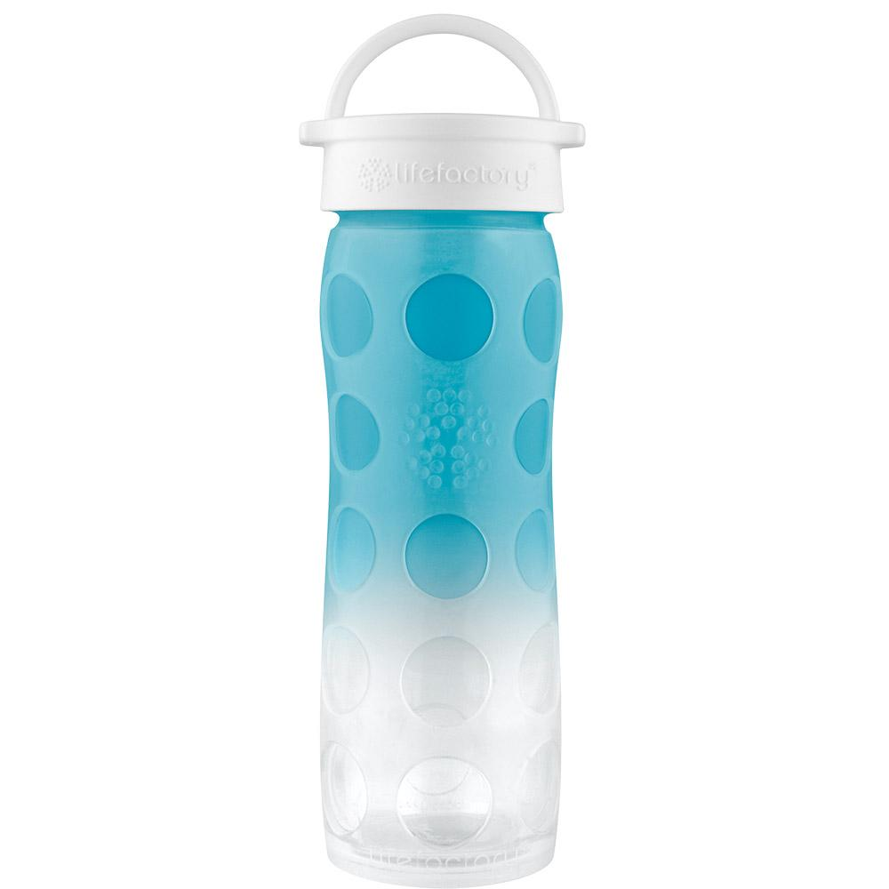 16 oz Glass Bottle with Classic Cap and Silicone Sleeve, Ultramarine Ombre