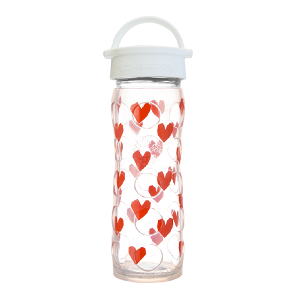 16 oz Glass Bottle with White Classic Cap and Silicone Sleeve - Tru Luv