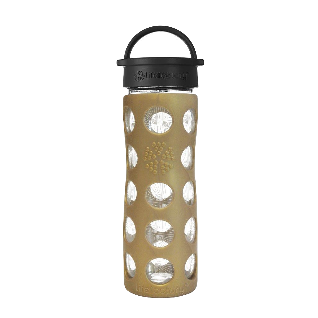 16 oz Glass Bottle with Classic Cap and Silicone Sleeve - Golden Dew