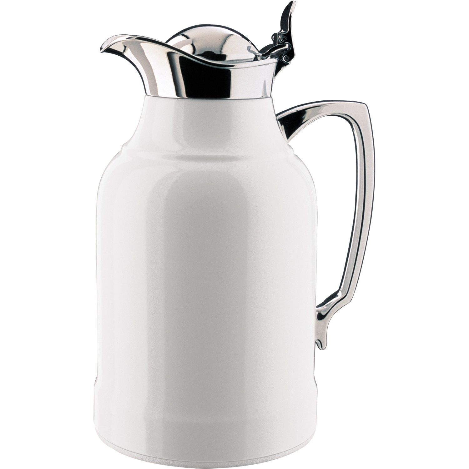 ALFI® OPAL™ GLASS VACUUM INSULATED LACQUERED CHROME PLATED BRASS CARAFE 1.0 L