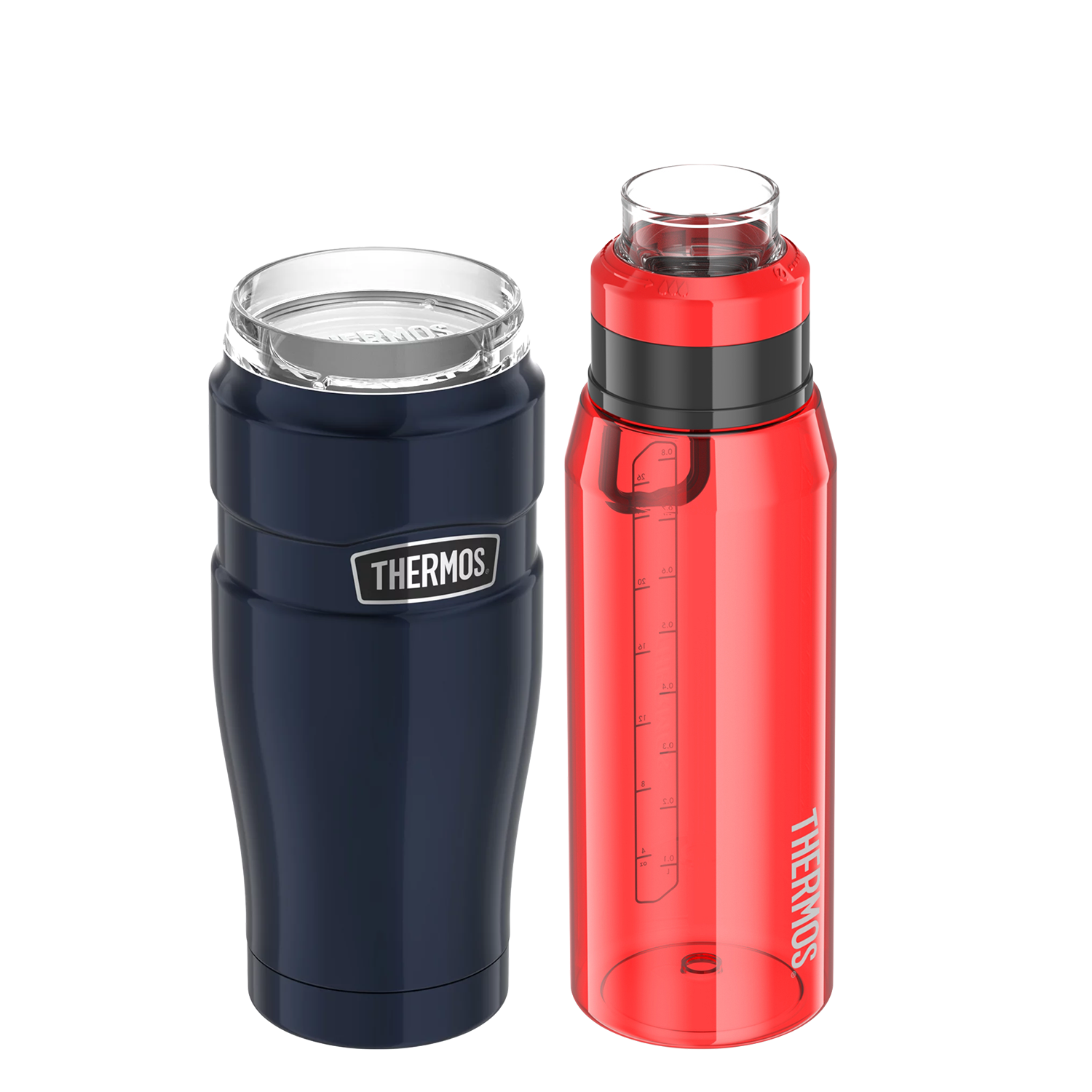 32OZ 360-DEGREE DRINK LID STAINLESS KING STAINLESS STEEL TUMBLER & 32OZ HYDRATION BOTTLE