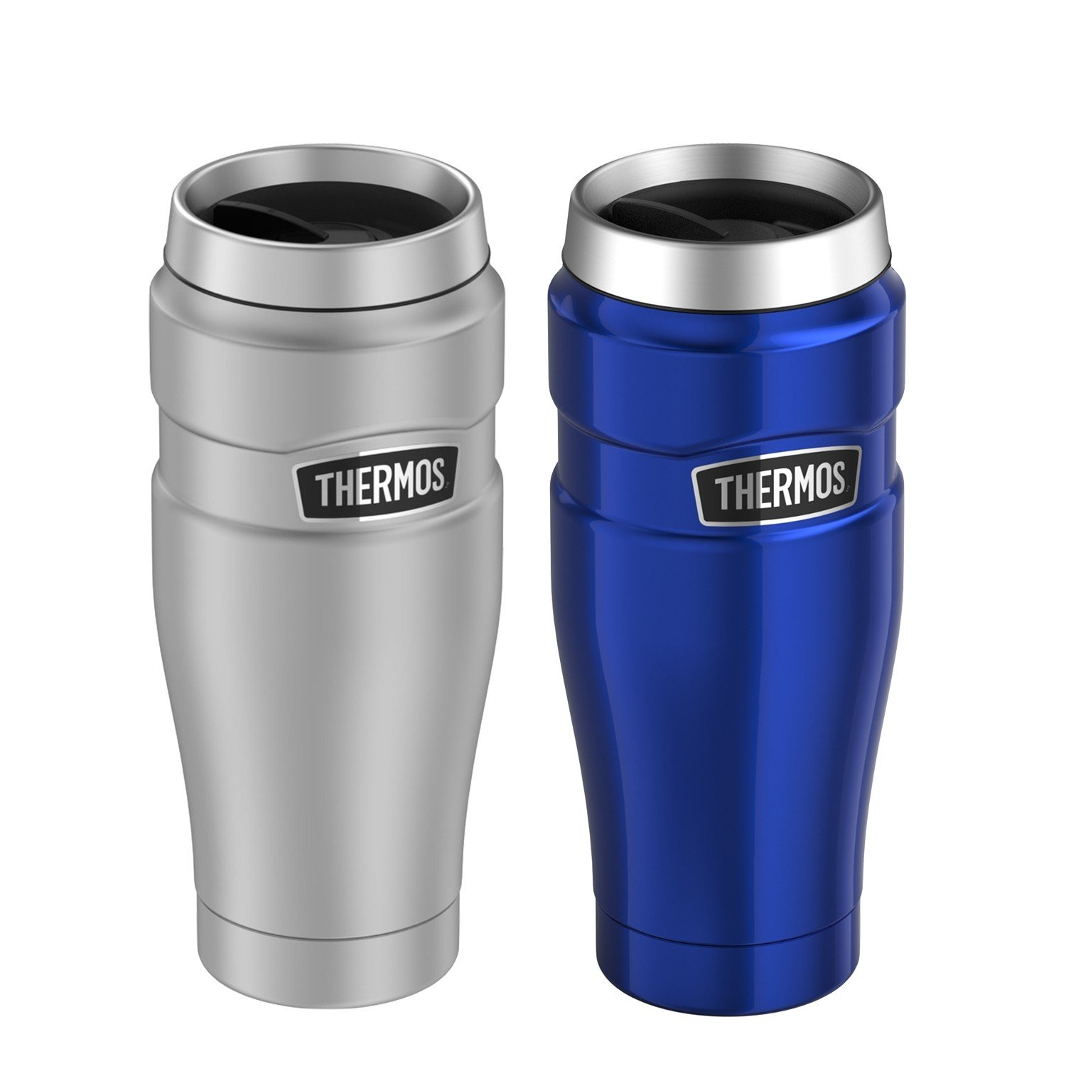 STAINLESS KING VACUUM INSULATED STAINLESS STEEL TRAVEL TUMBLER 16OZ PAIR