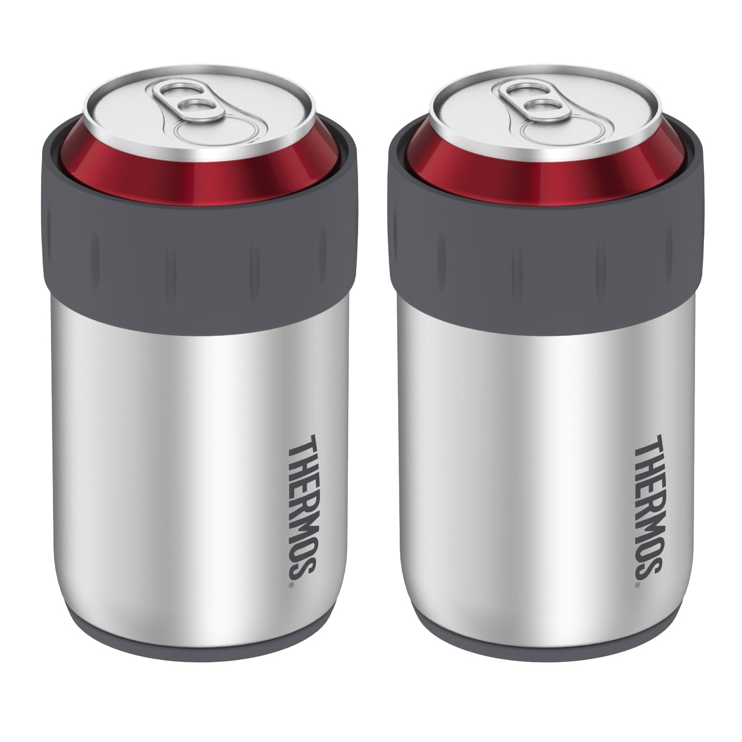 STAINLESS STEEL BEVERAGE CAN INSULATOR PAIR