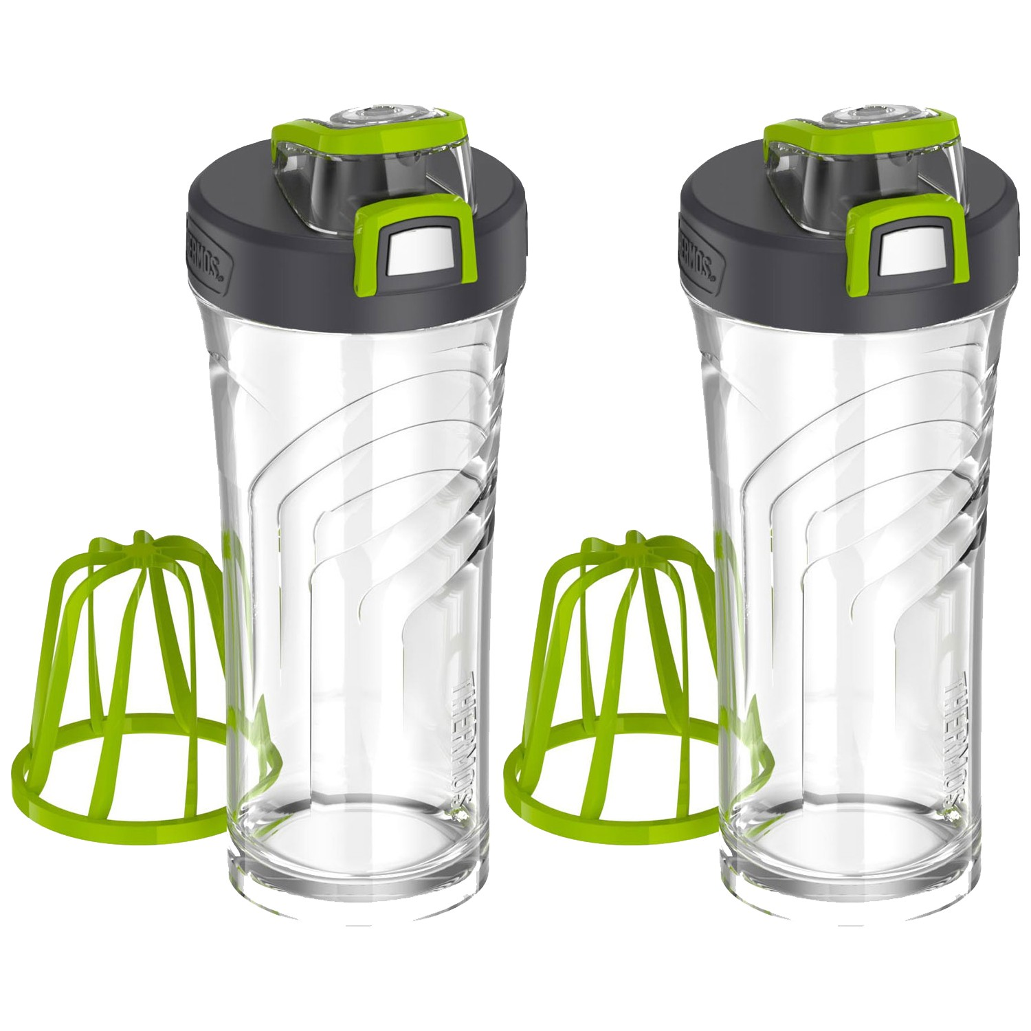 SHAKER BOTTLE WITH MIXER 24OZ PAIR