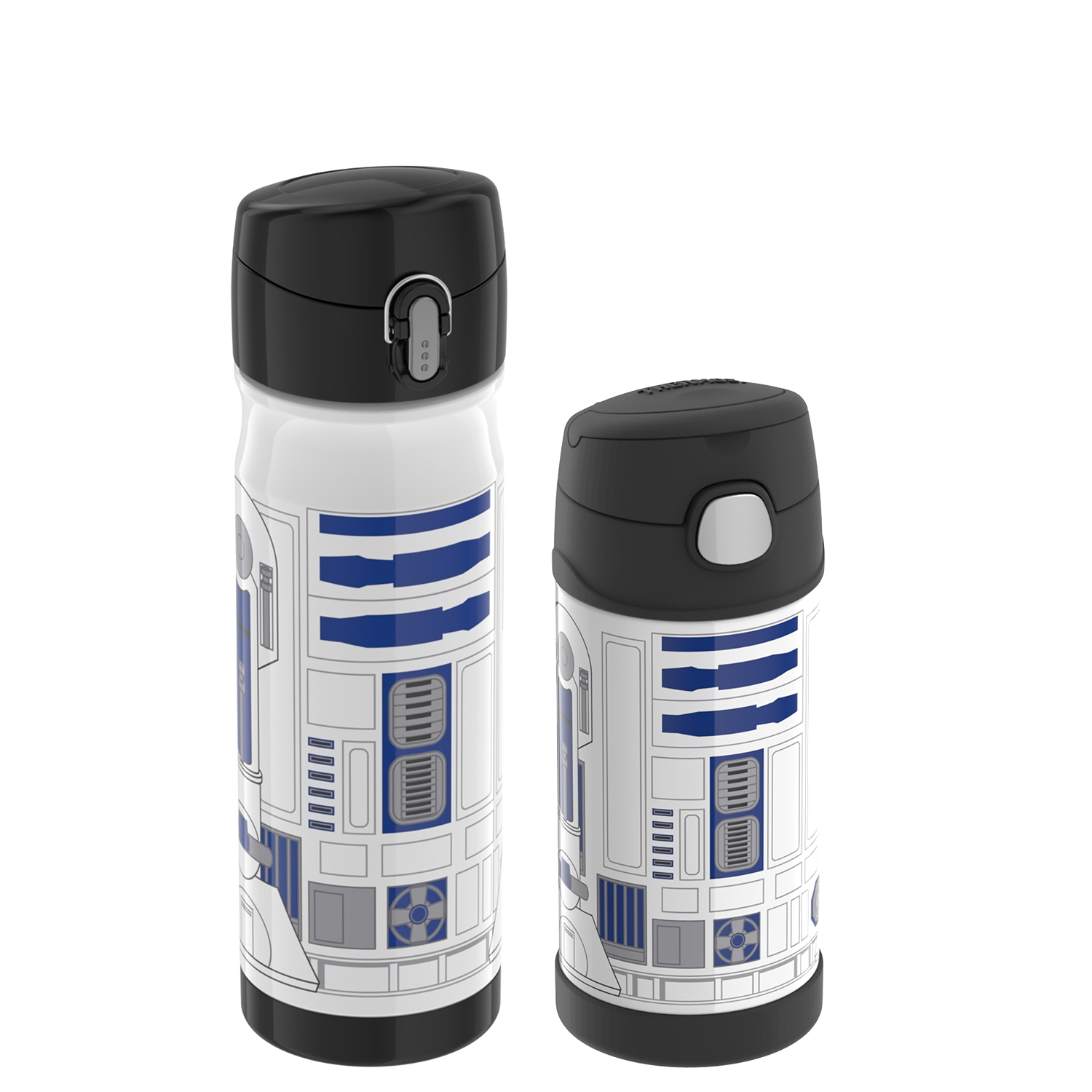 STAINLESS STEEL DIRECT DRINK BOTTLE 16OZ WITH FUNTAINER™ BOTTLE 12OZ, STAR WARS - R2D2
