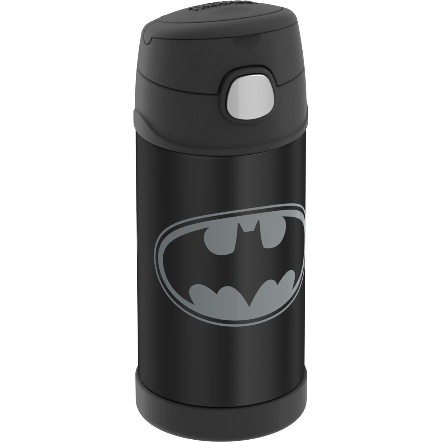 FUNTAINER® STAINLESS STEEL WATER BOTTLE WITH STRAW BATMAN™