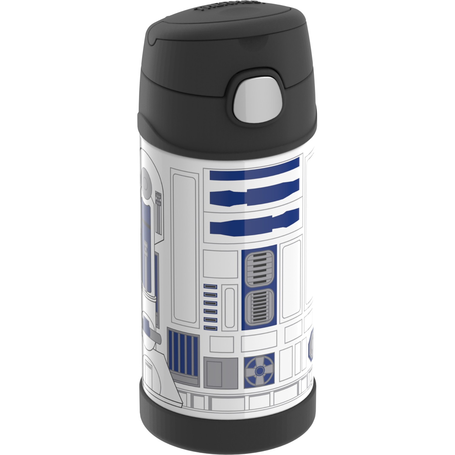 FUNTAINER® STAINLESS STEEL WATER BOTTLE WITH STRAW STAR WARS