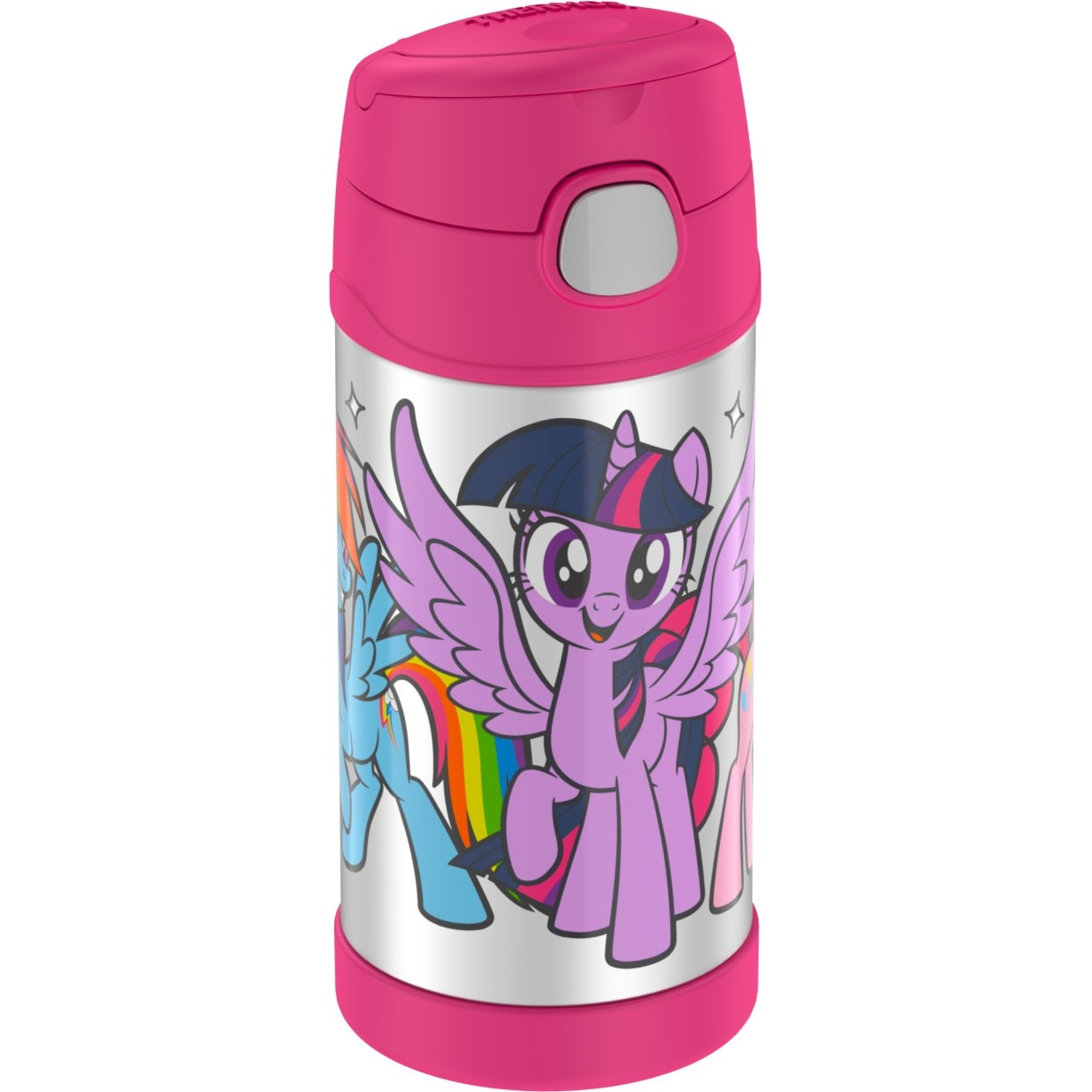 FUNTAINER® STAINLESS STEEL WATER BOTTLE WITH STRAW MY LITTLE PONY
