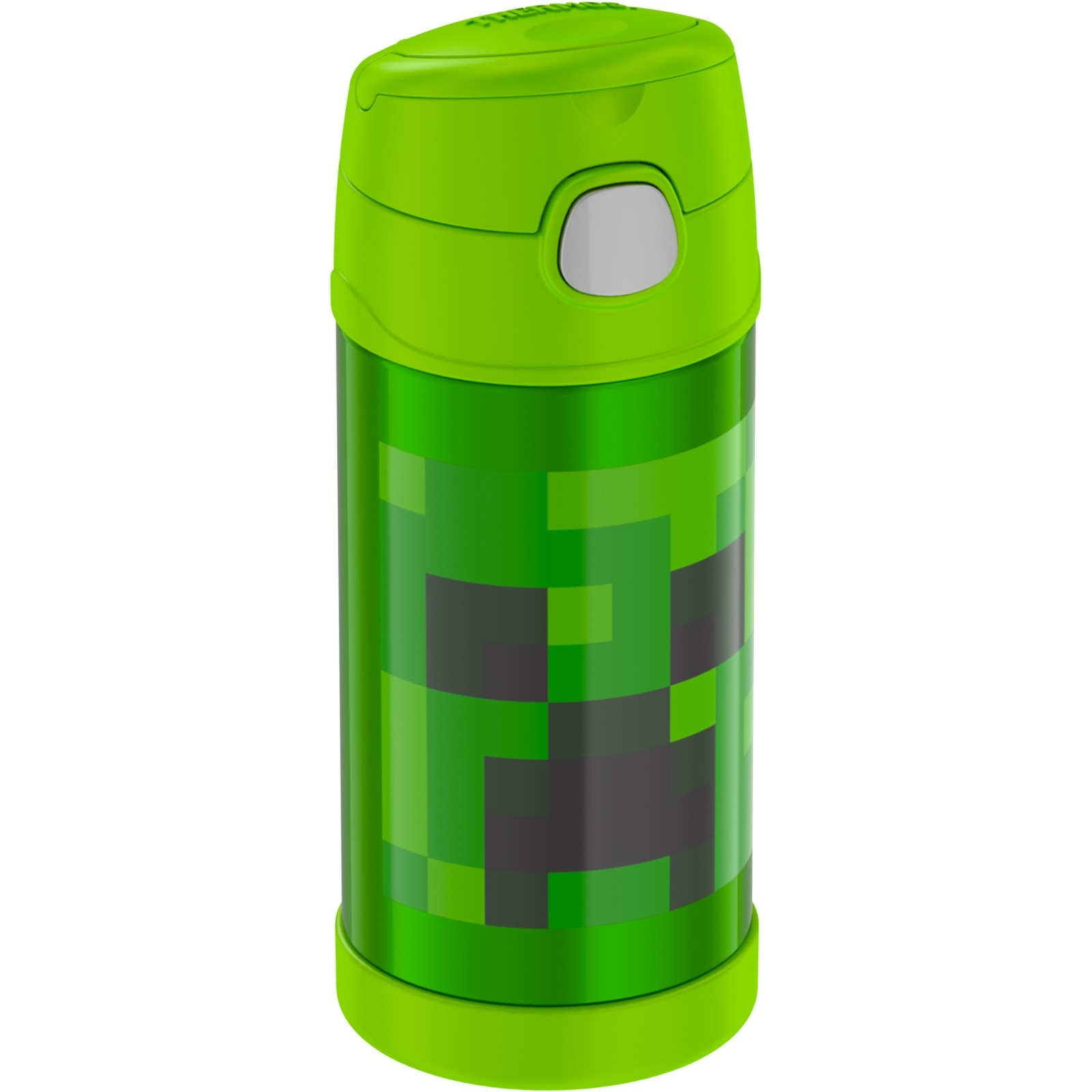 FUNTAINER® STAINLESS STEEL WATER BOTTLE WITH STRAW MINECRAFT