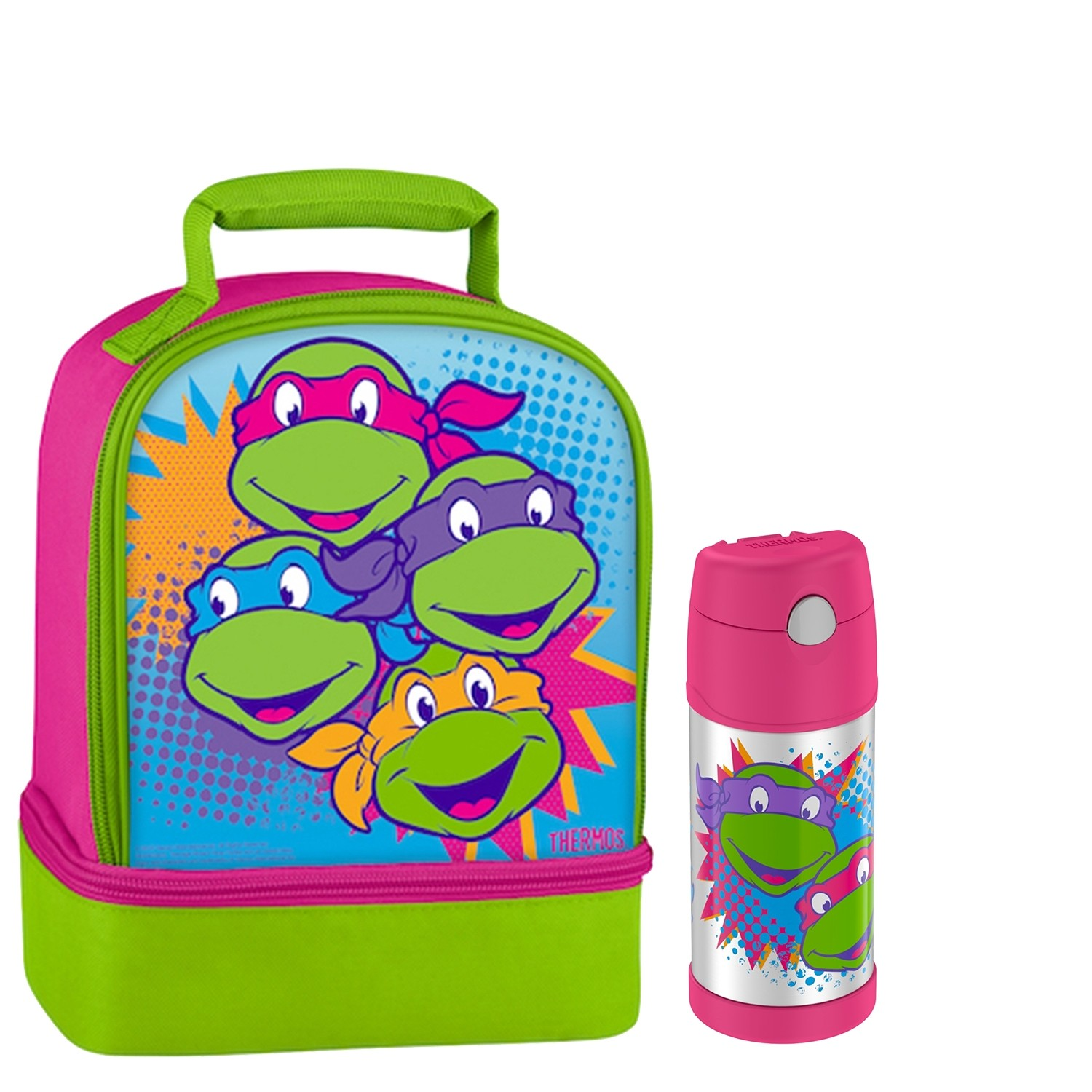 DUAL LUNCH KIT WITH FUNTAINER® BOTTLE 12 OZ, TEENAGE MUTANT NINJA TURTLES