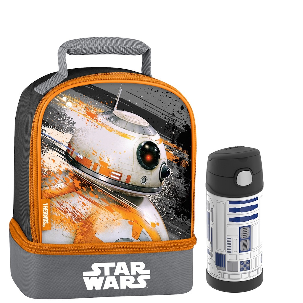 DUAL LUNCH BOX WITH FUNTAINER® BOTTLE 12OZ, STAR WARS