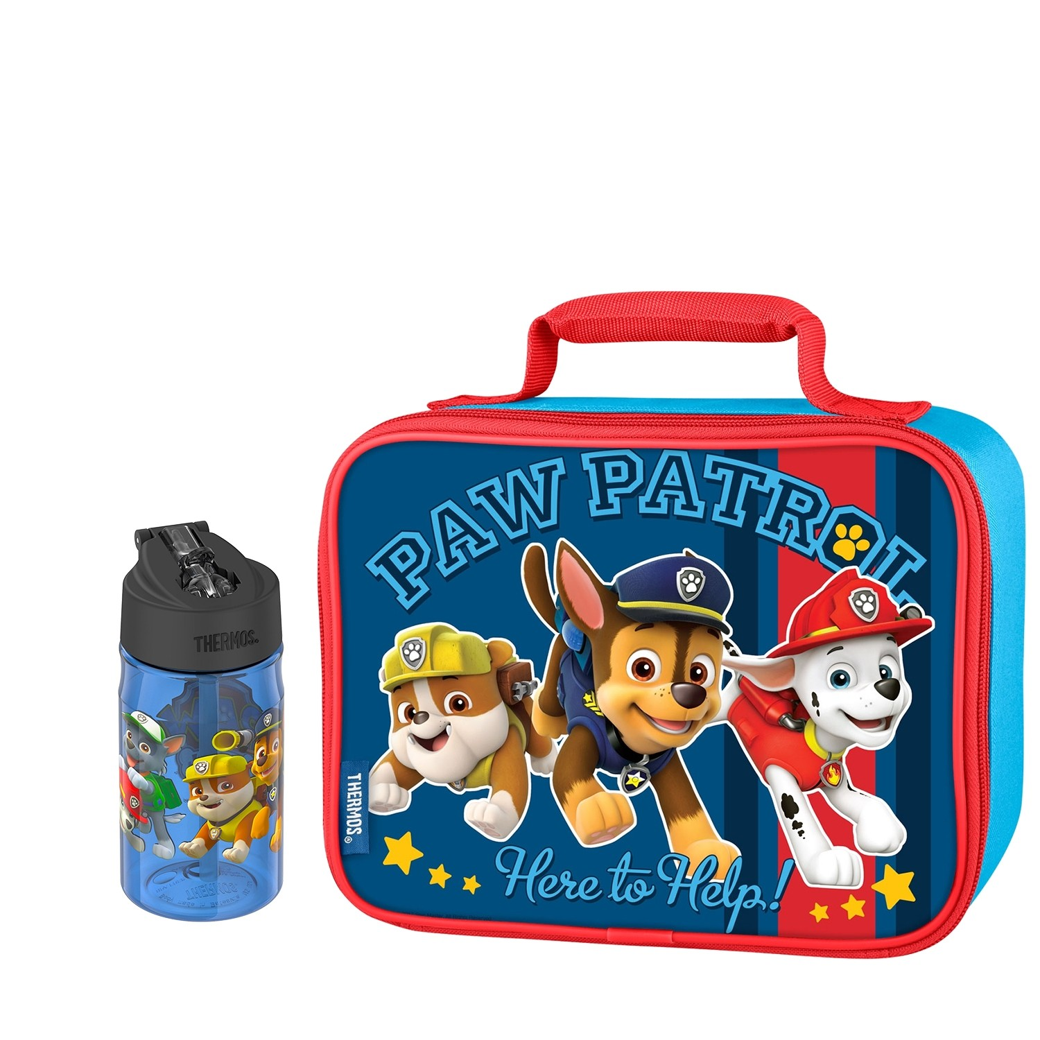 SOFT LUNCH BOX WITH WATER BOTTLE 12OZ, PAW PATROL