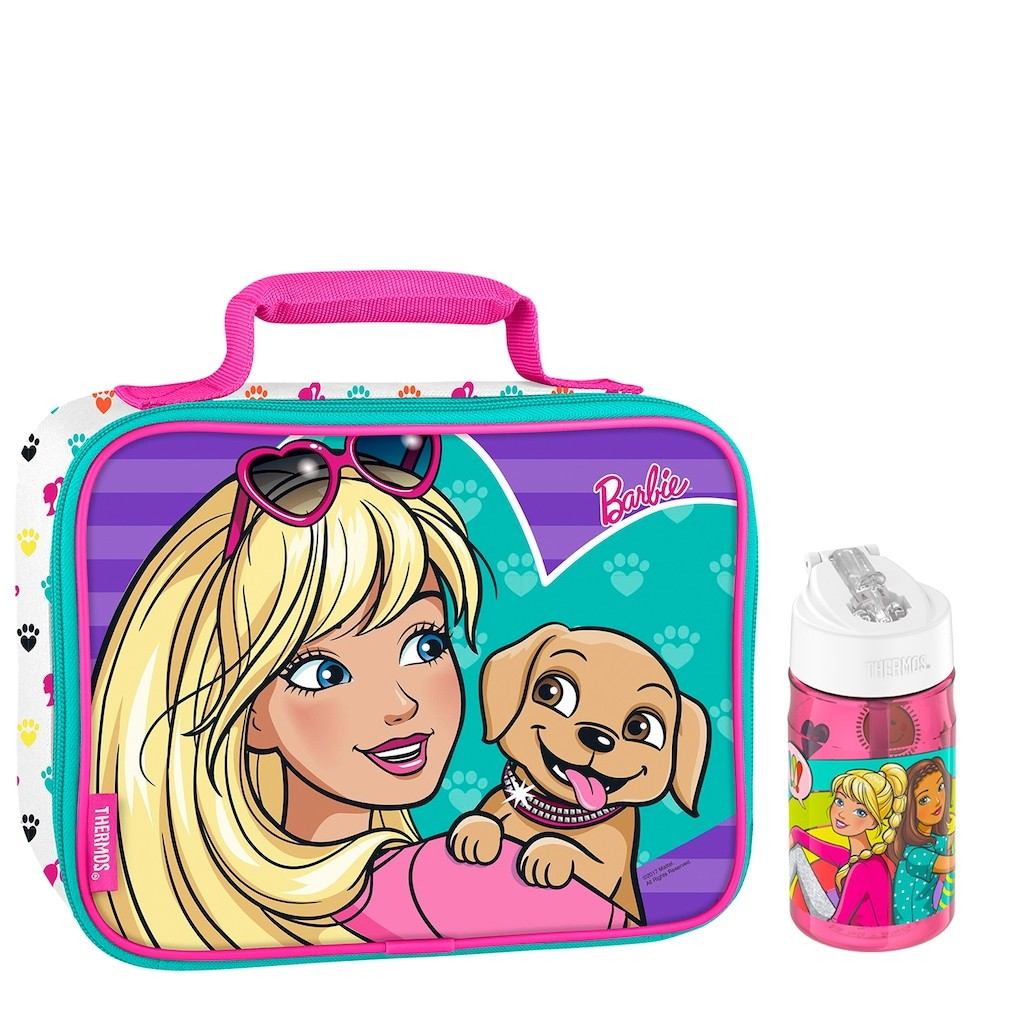 SOFT LUNCH BOX WITH WATER BOTTLE 12OZ, BARBIE DREAMTOPIA