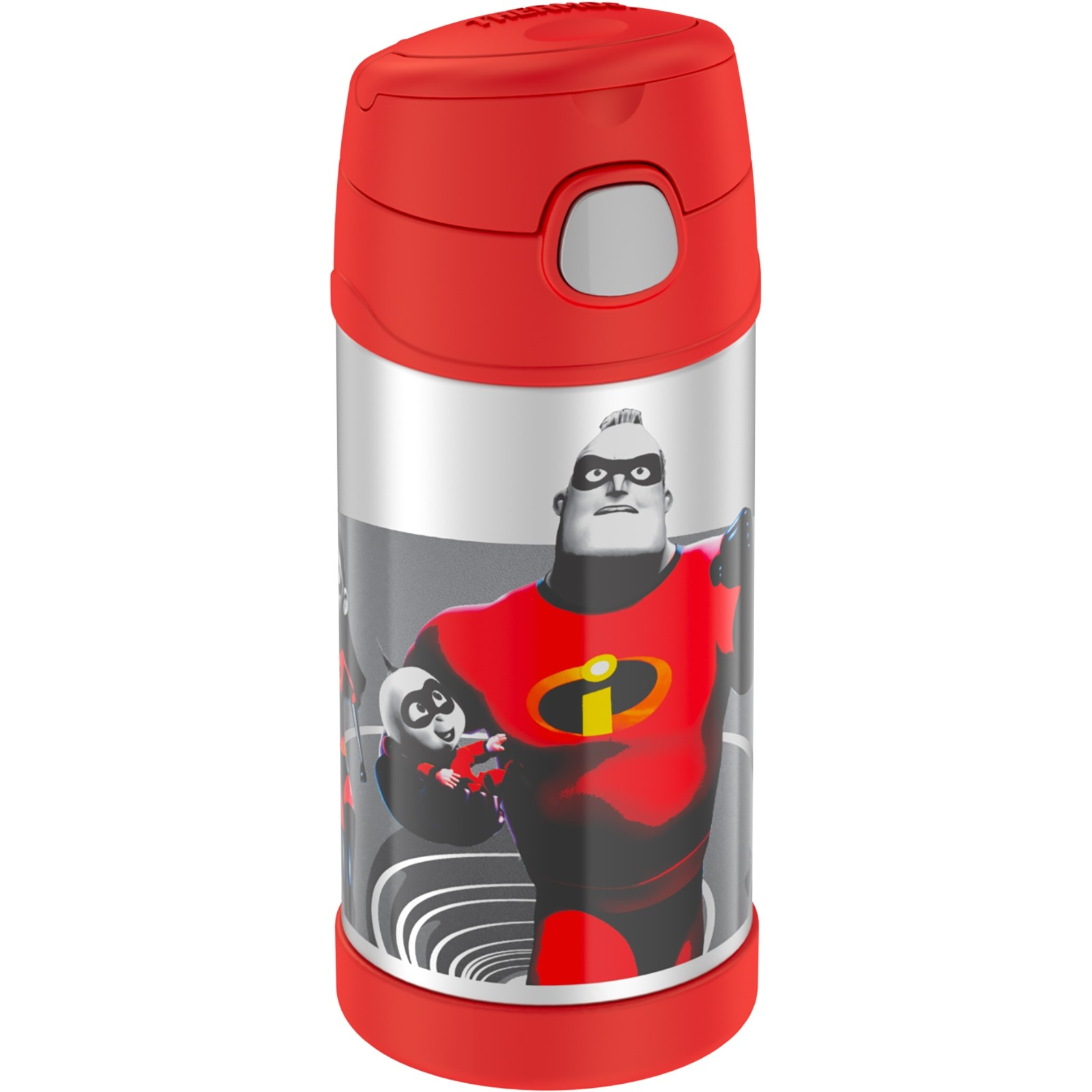 FUNTAINER® STAINLESS STEEL WATER BOTTLE WITH STRAW DISNEY PIXAR'S INCREDIBLES 2