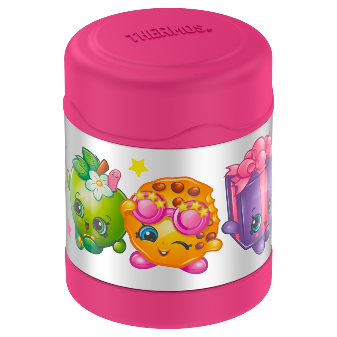 FUNTAINER® STAINLESS STEEL FOOD JAR SHOPKINS