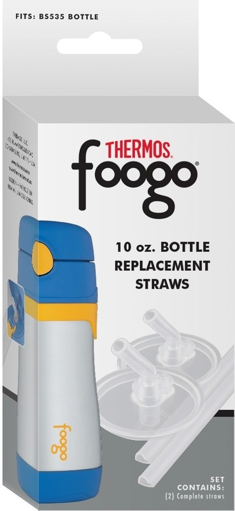 FOOGO™ 10 OZ BOTTLE REPLACEMENT STRAWS 2-PACK