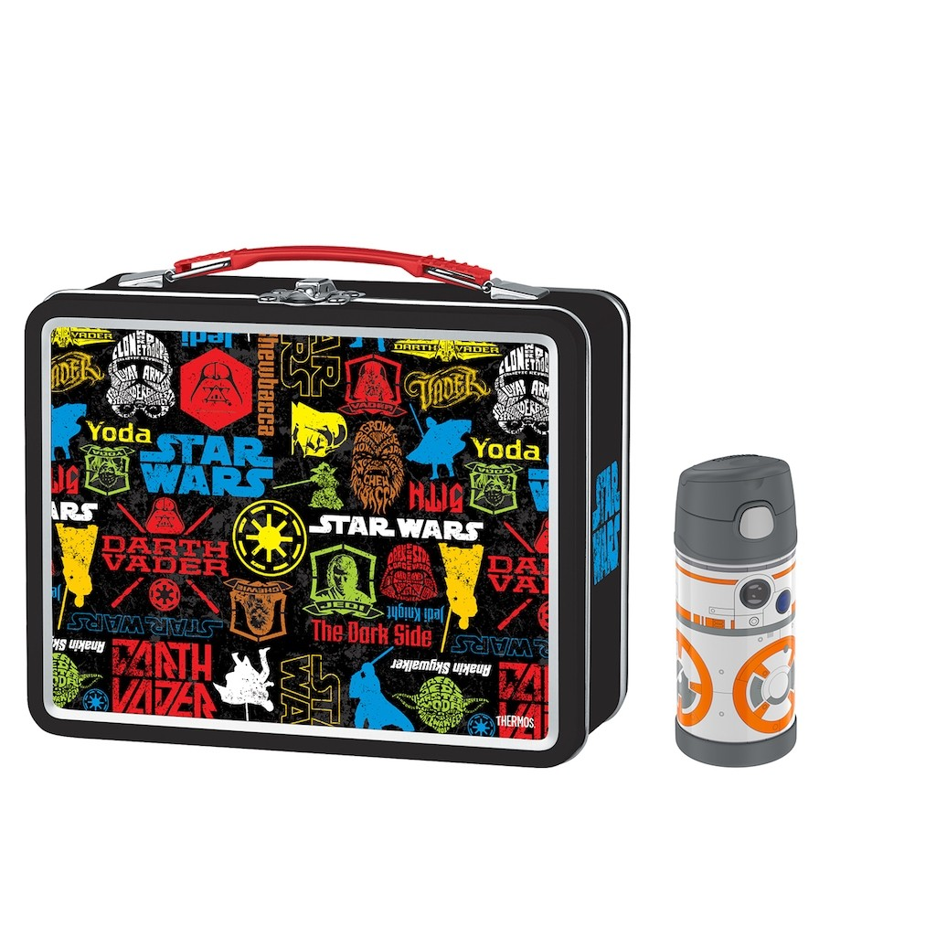 METAL LUNCH BOX WITH FUNATINER® 120Z BOTTLE, STAR WARS BB8