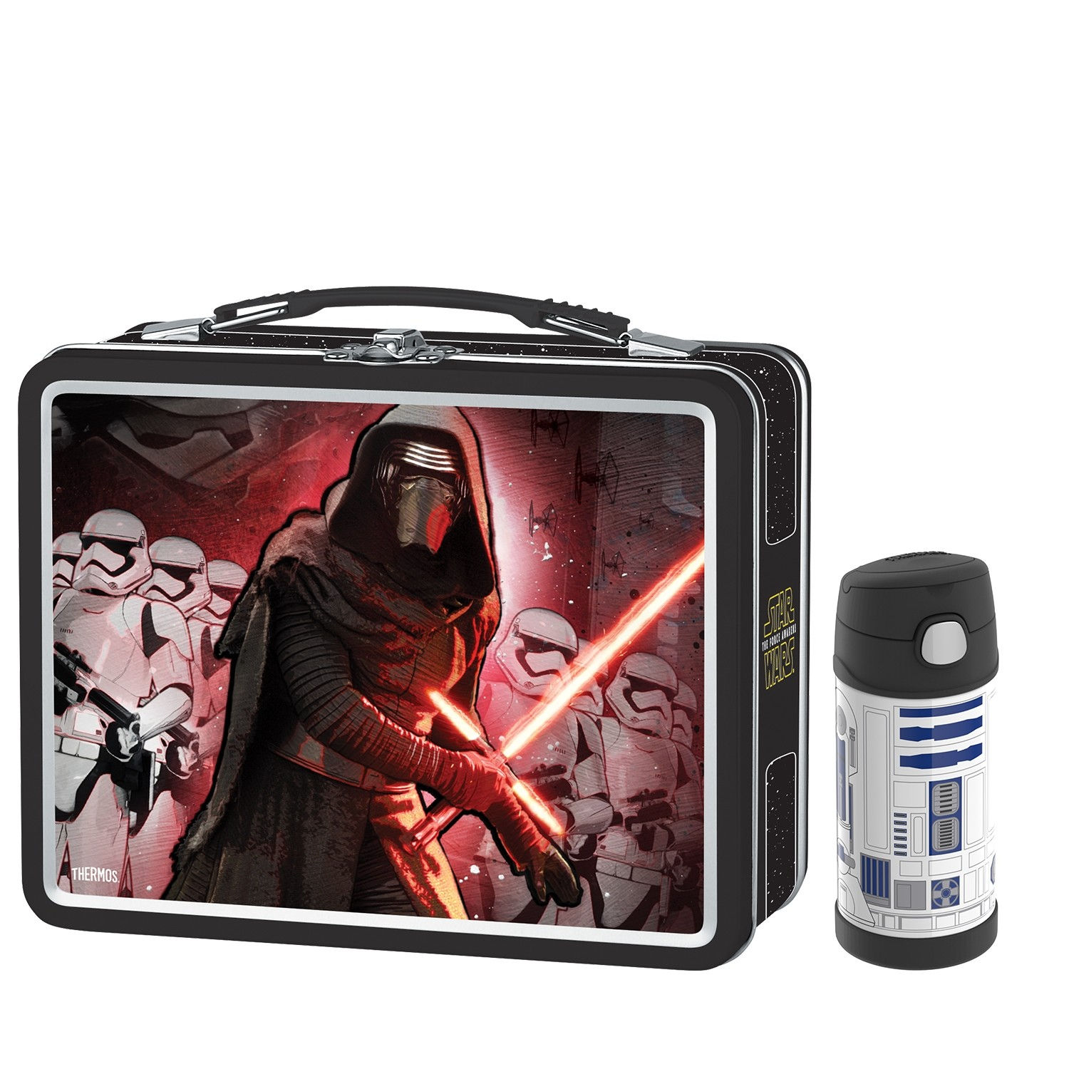 METAL LUNCH BOX WITH FUNTAINER® BOTTLE 120Z, STAR WARS EPISODE VII