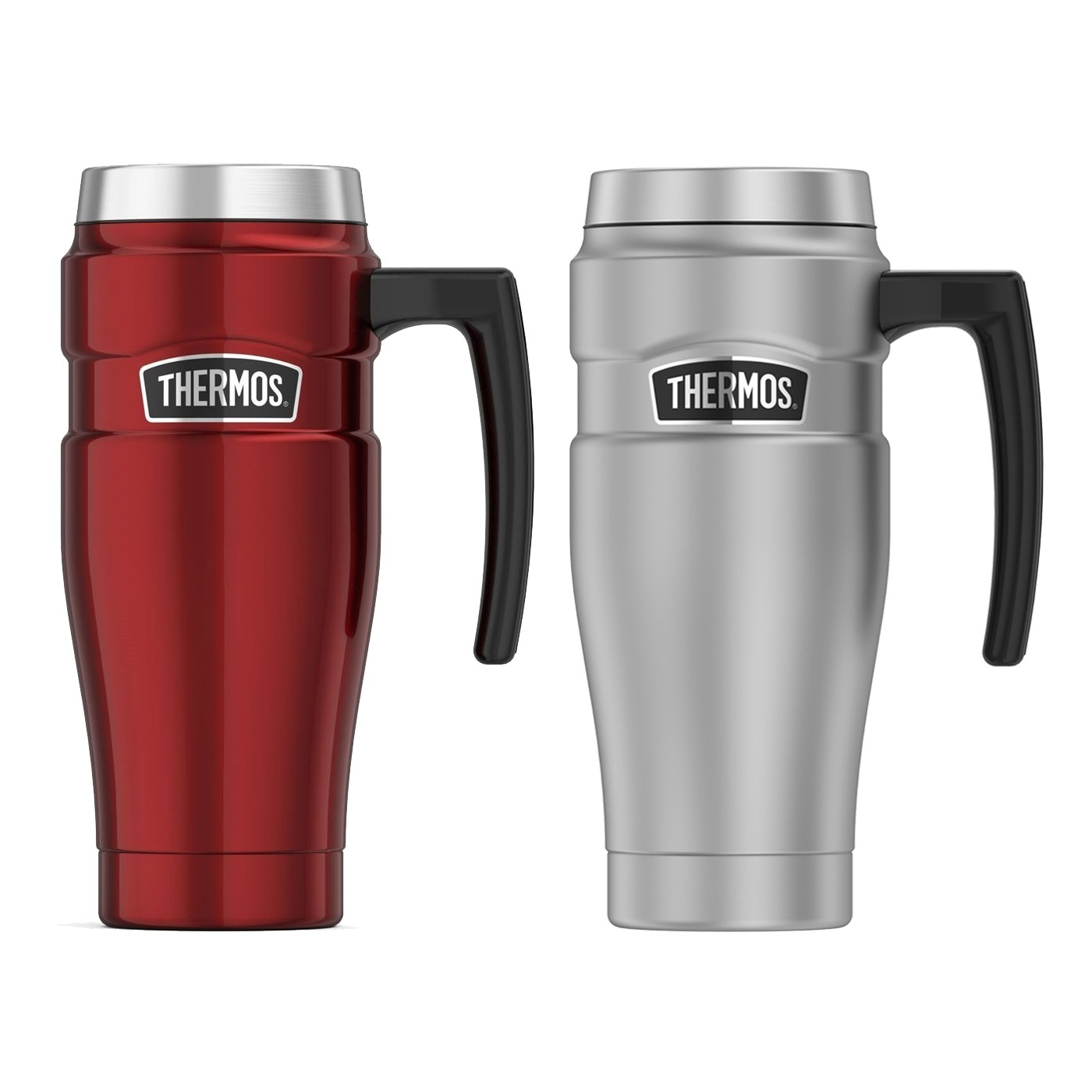 STAINLESS KING VACUUM INSULATED STAINLESS STEEL TRAVEL MUG 16OZ PAIR