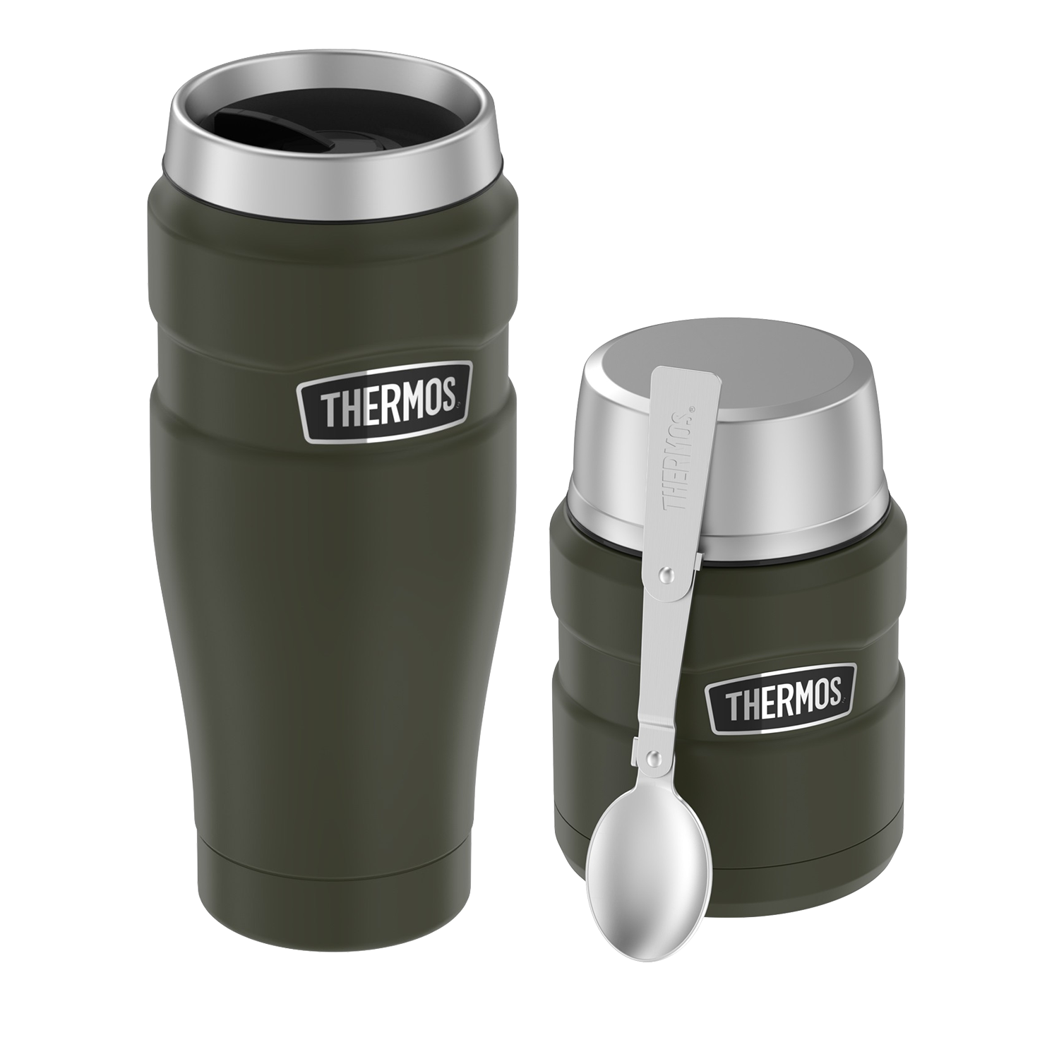 STAINLESS KING 16OZ STAINLESS STEEL TRAVEL TUMBLER AND FOOD JAR