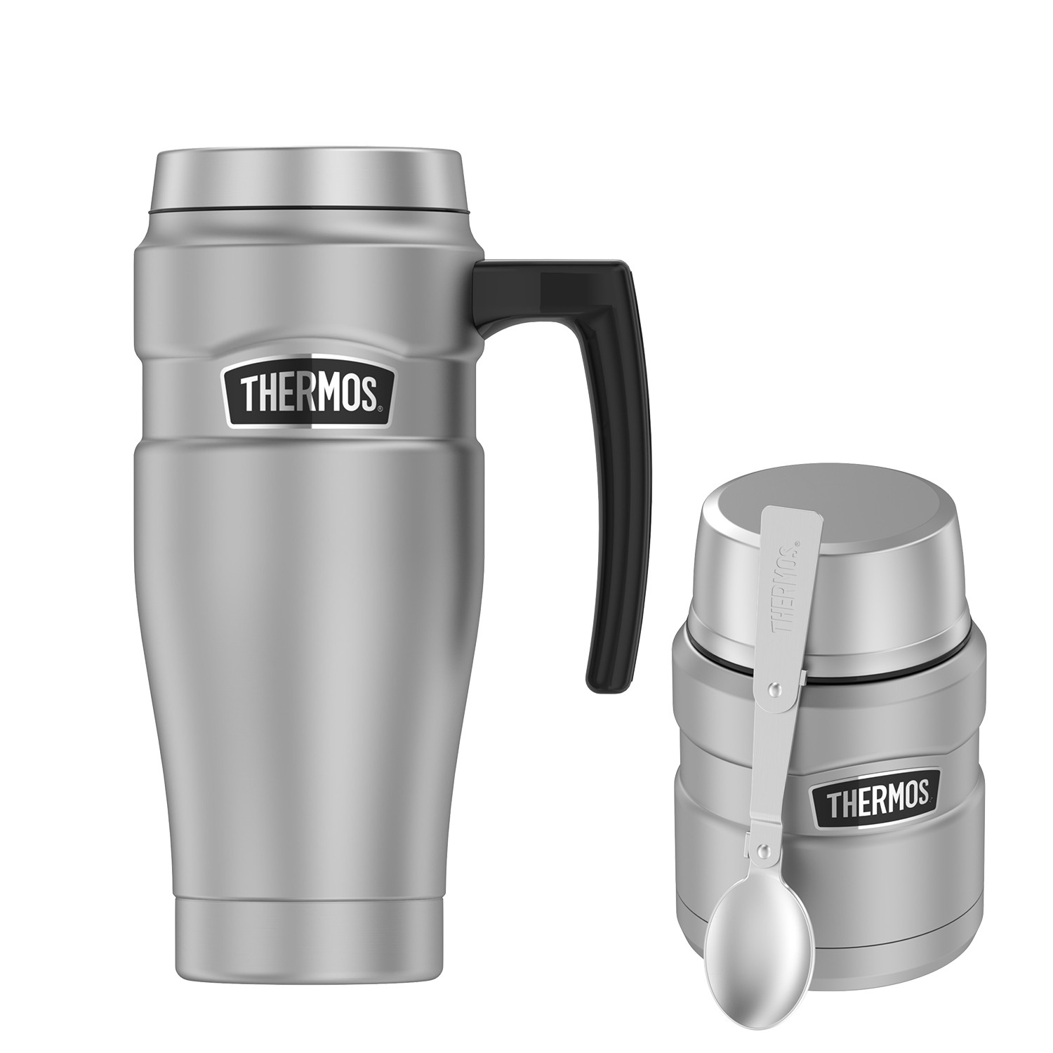 STAINLESS KING 16OZ STAINLESS STEEL TRAVEL MUG AND FOOD JAR