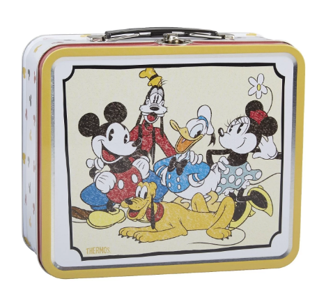 VINTAGE-INSPIRED METAL LUNCH BOX DISNEY MICKEY AND FRIENDS