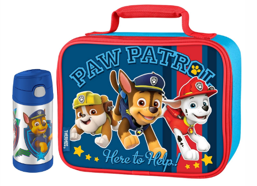 SOFT LUNCH BOX WITH FUNTAINER® BOTTLE 12OZ, PAW PATROL